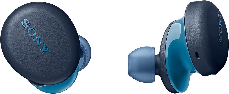 Sony WFXB700 - Auriculares True Wireless (Totalmente inalámbrico, Bluetooth, Extra Bass, Micro para Llamadas Manos Libres, 18h de batería, Resistencia IPX4), Azul