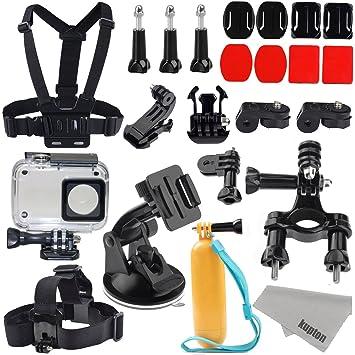 Kupton Accessories for Xiaomi YI 4K/ 4K+/ YI Lite/ YI Discovery 4K Action Camera 40m Waterproof Housing Case + Head Strap + Chest Harness + Car ...