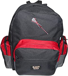 product image for BAGS USA Lacrosse Equipment Backpack Holds All Your Gear with Embroidery Lacrosse Logo Included.