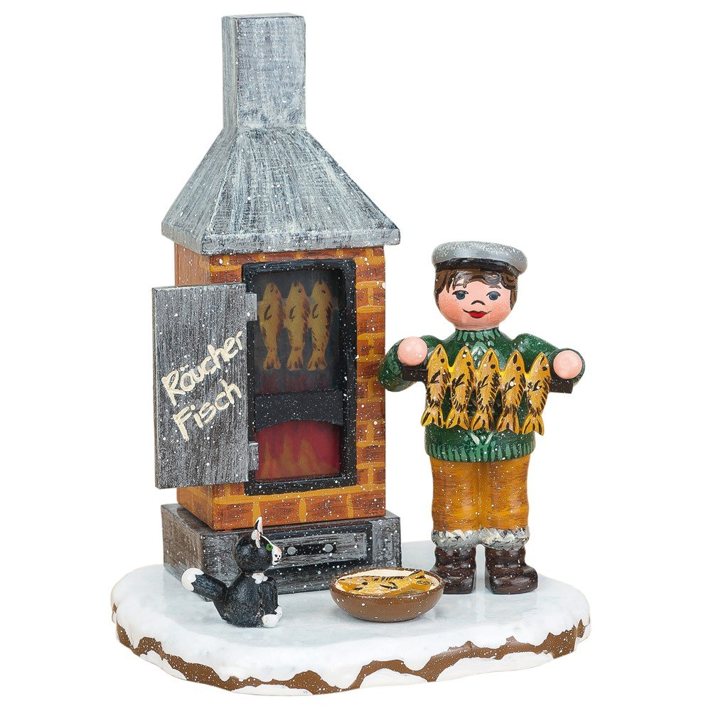 elektrisch beleuchtbar 11 cm Hubrig Neu 2015 Winterkinder Fischräucherei