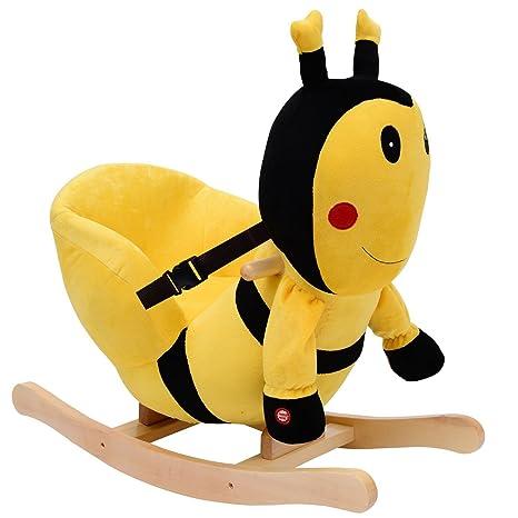 Homcom Cavallo A Dondolo In Legno Ape Per I Bambini 60 X 33 X 45cm