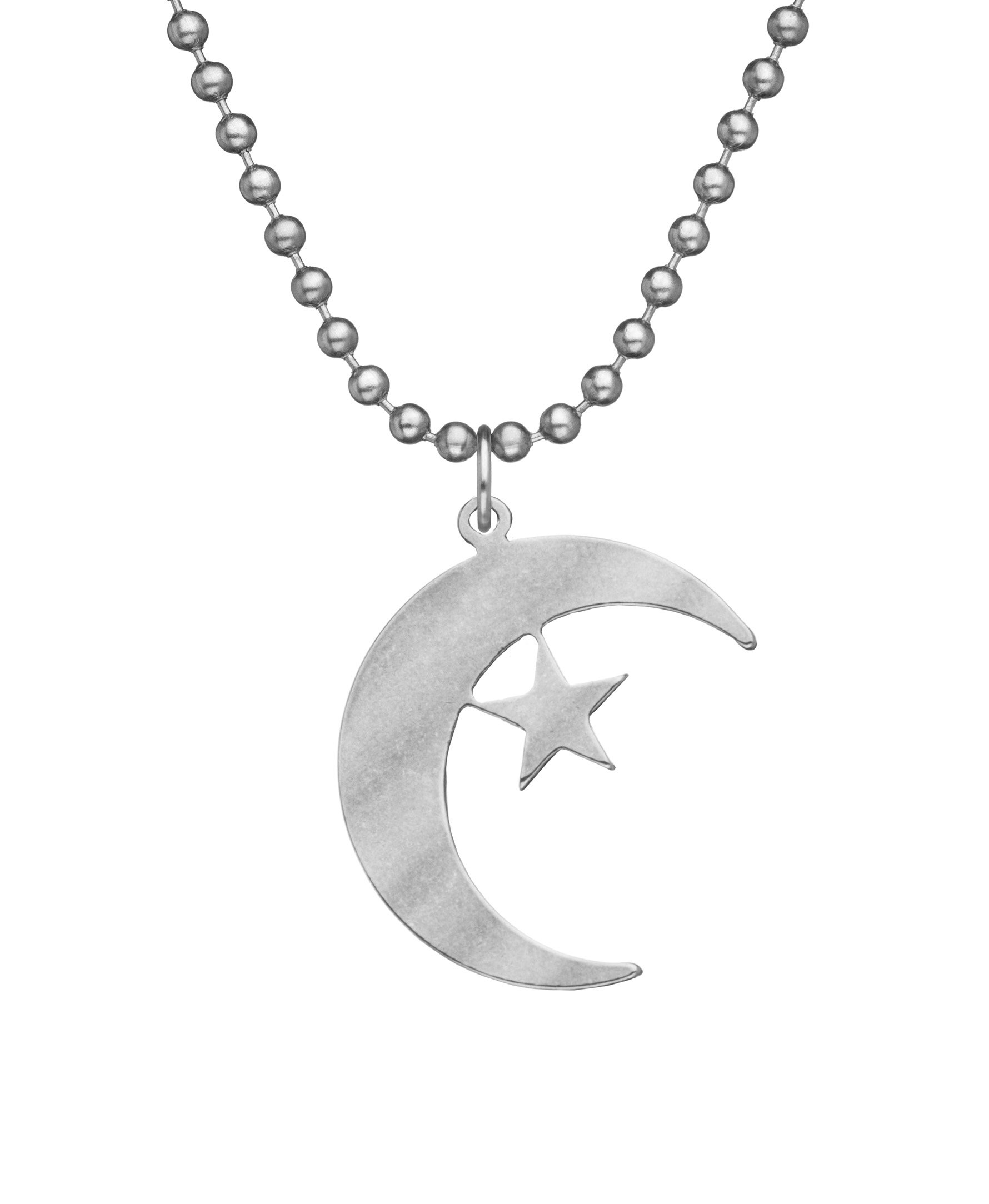 Crescent and Star Necklace