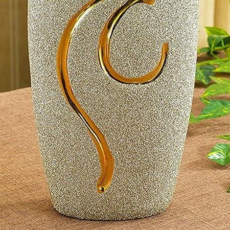 Amazon.com: ZTHUAYUAN Jarrón de cristal de porcelana botella ...