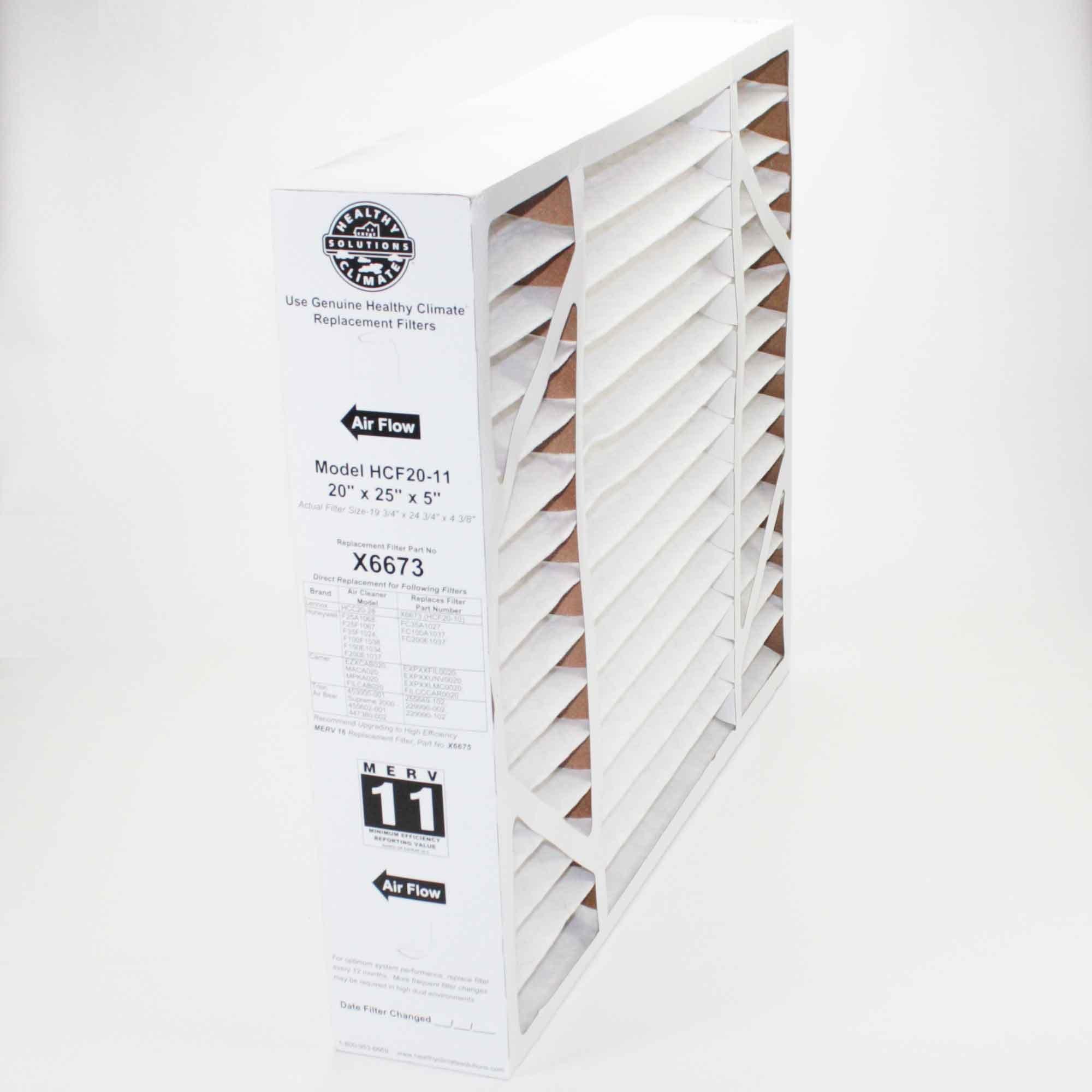 Lennox Healthy Climate 20x25x5 x6673 MERV 11 Box Filter
