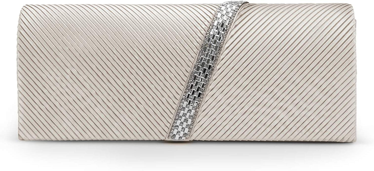 Jessica McClintock Champagne Evening Bag,-See Description for Pictures