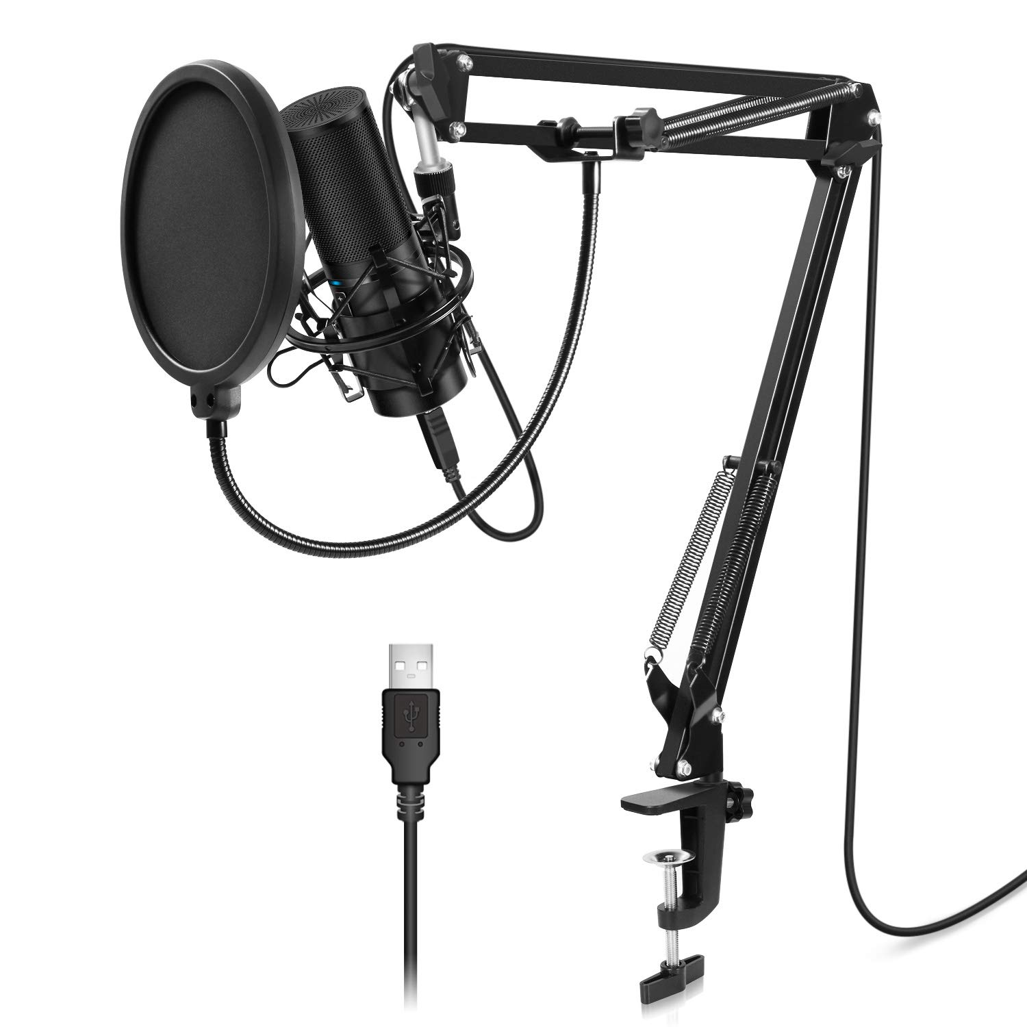 TONOR USB Microphone Kit Q9 Condenser Computer Cardioid Mic for Podcast, Game, Youtube Video, Stream, Recording Music, Voice Over by TONOR (Image #1)