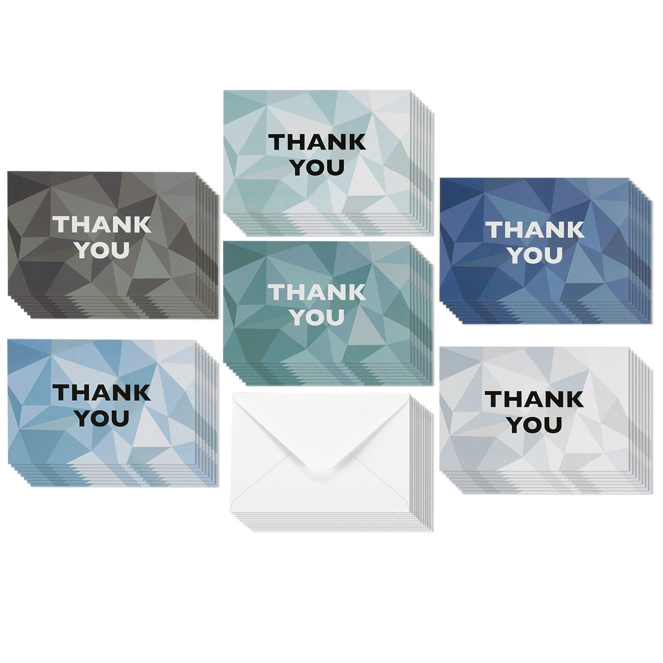Thank You Cards - 48-Count Thank You Notes, Bulk Thank You Cards Set - Blank on the Inside, 6 Stained Glass Pattern Designs – Includes Thank You Cards and Envelopes, 4 x 6 Inches by Best Paper Greetings (Image #5)
