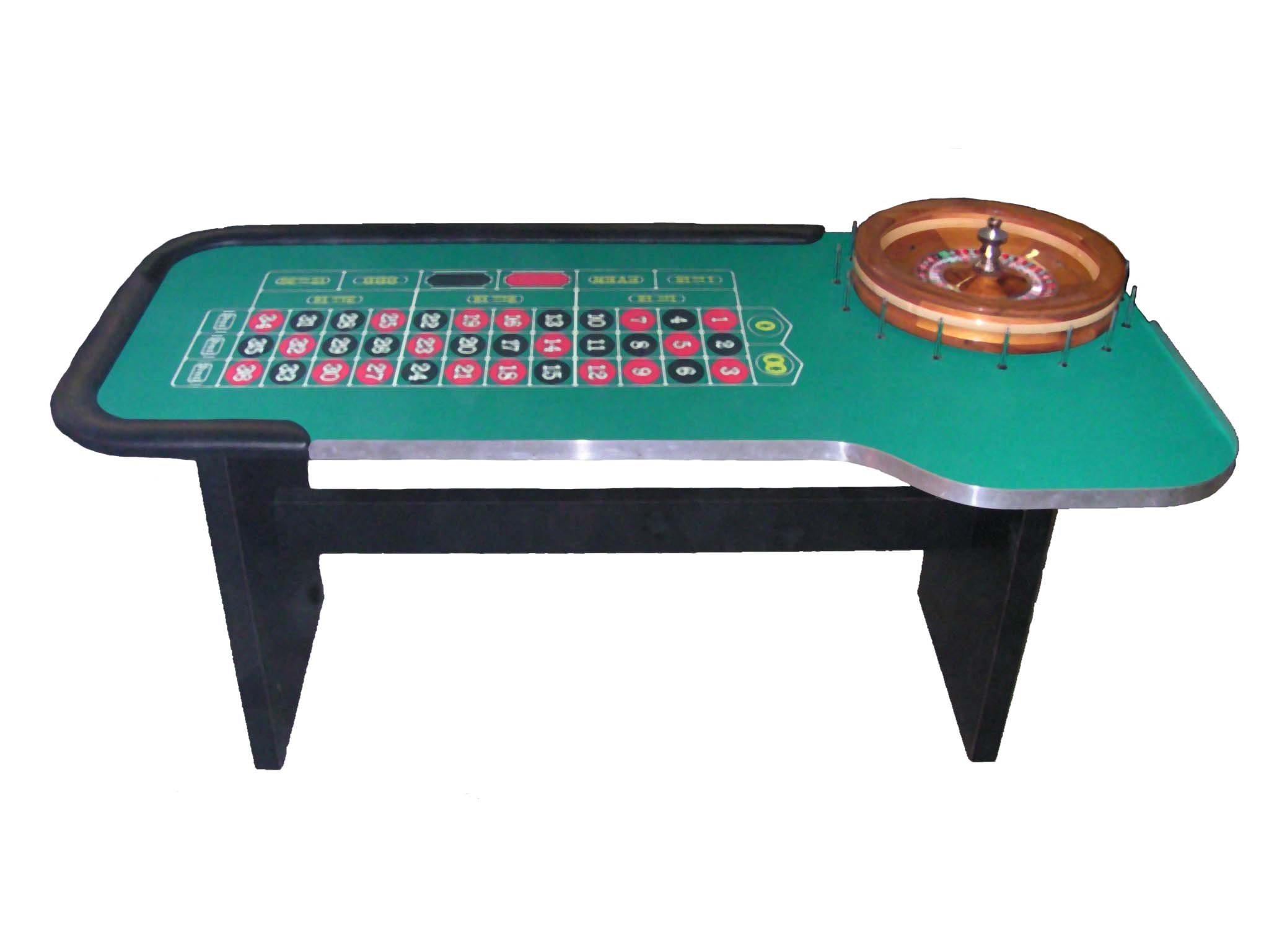 84 Inch Profesional Roulette Table & 22 Inch Roulette Wheel - Made in the USA