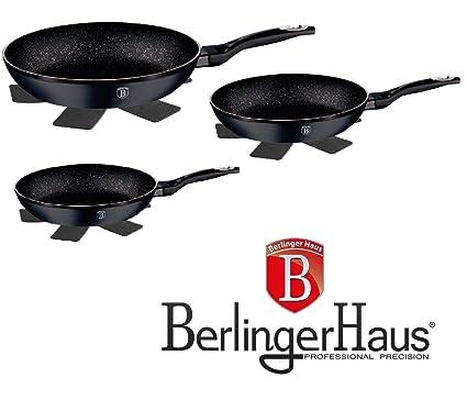 Top SHOP Berlinger Haus Juego 3 Sartenes con control de ...