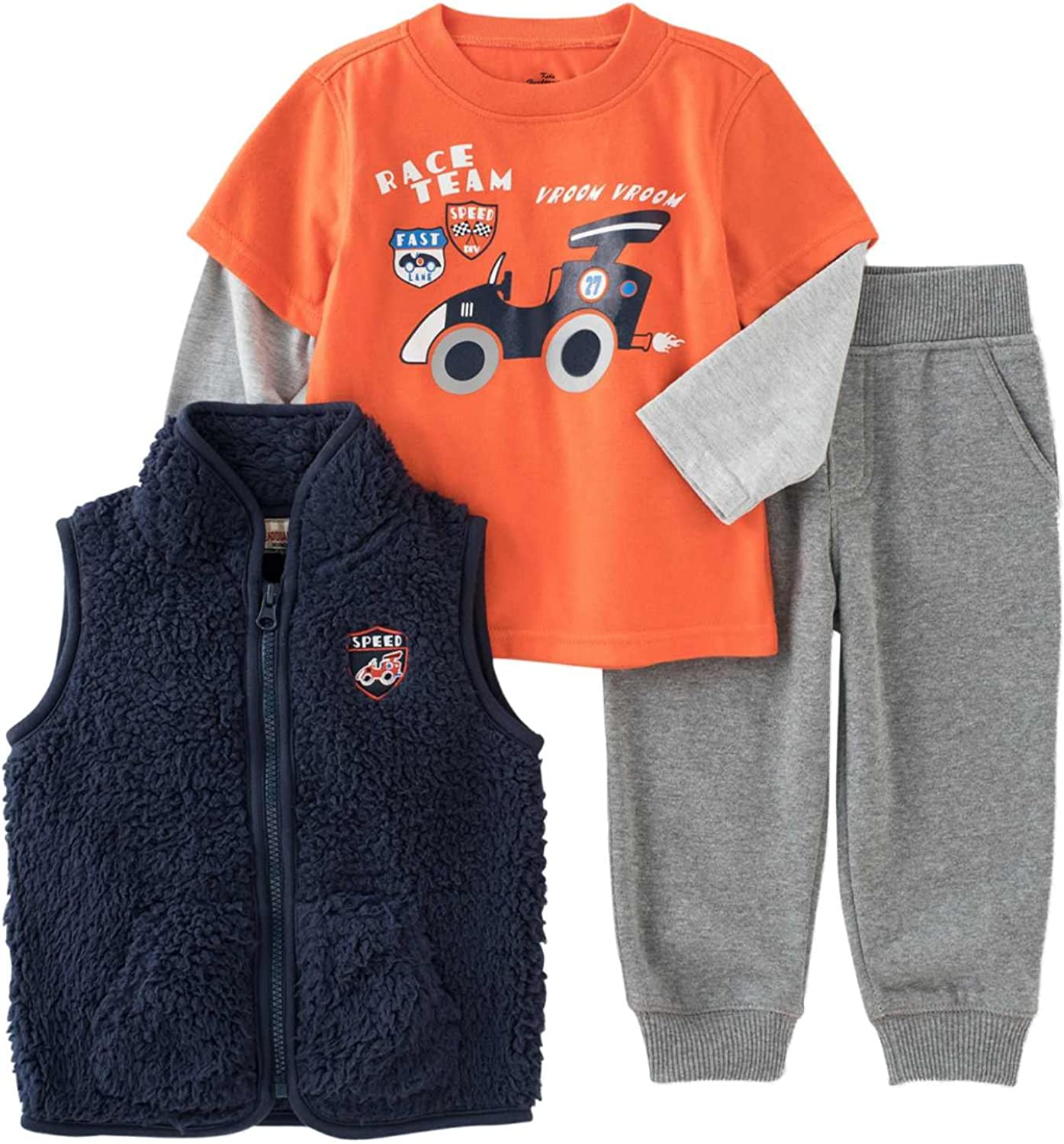 Shirt Kids Headquarters 3-Piece Set: Vest and Pants Toddler Girls size 3T NEW