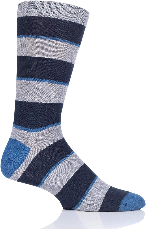 Thought Homme Rayures /étoil/ées et Stripes Bambou et Coton organique Chaussettes Paquet de 1