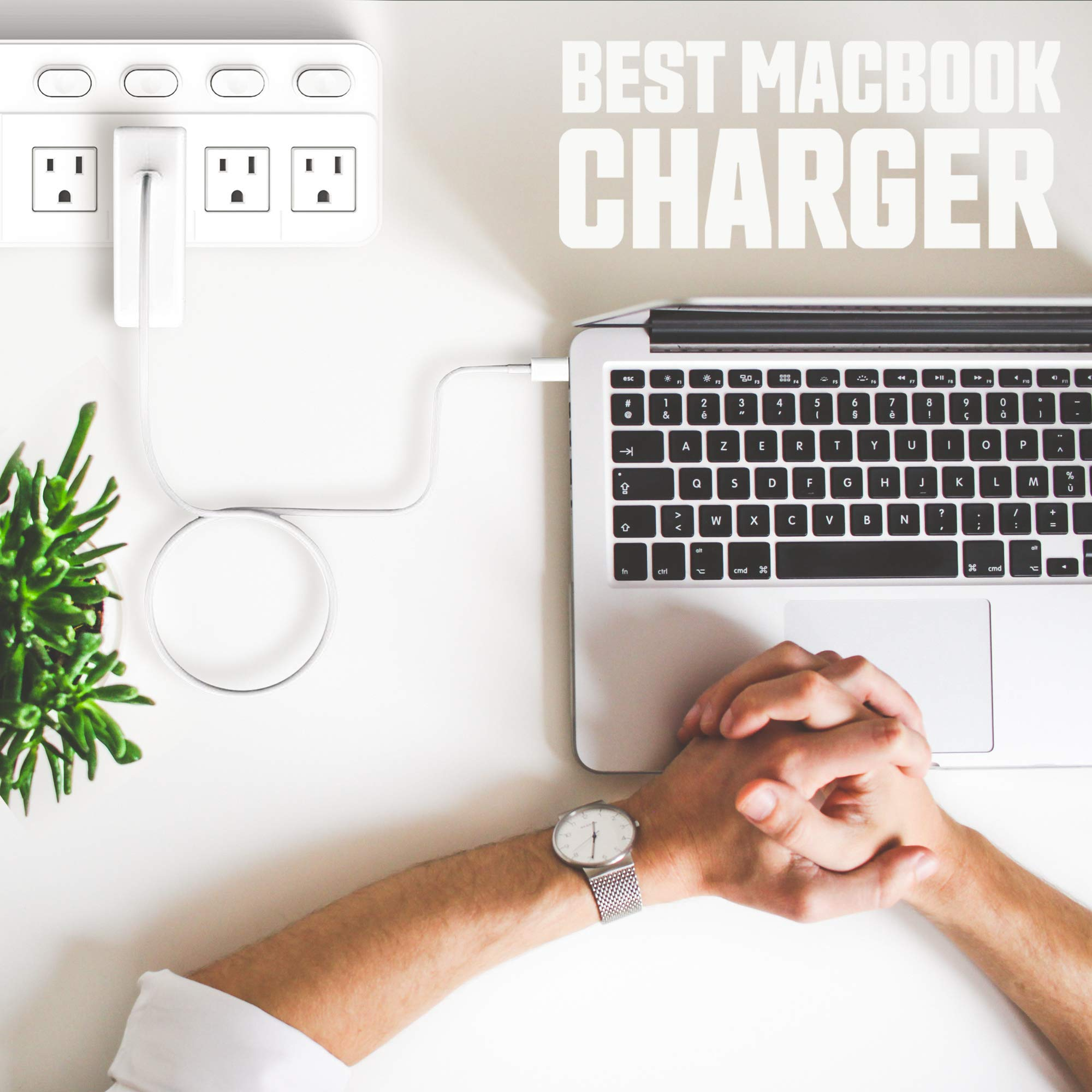 GSNOW 87W USB-C Power Adapter Charger - Compatible with MacBook Pro 15 Inch Laptop - with USB-C to USB-C Charge Cable (White) by GSNOW (Image #5)