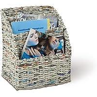 Revistero, cesta para revistas, 3 compartimentos, 290 x