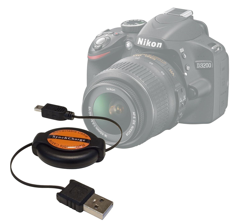 DURAGADGET Cable De Sincronización De Mini USB Retráctil Sirve ...