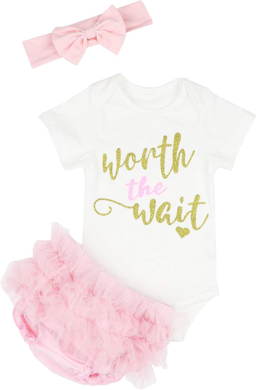 KANGKANG Baby Girl Clothes Outfits Shorts Set Ruffled Mamas Onesies