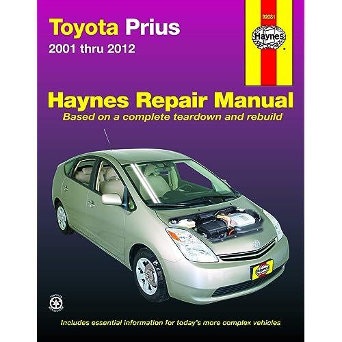 collectivedata.com Toyota Prius Repair Manual Haynes Manual ...
