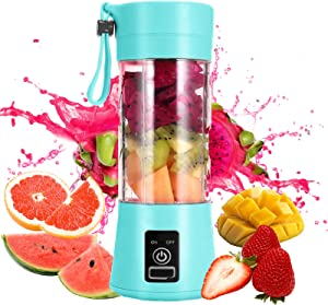 Portable Blender Mini Juicer Cup Personal Blender Rechargeable with USB Travel Smoothie Blender Juice Mixer for Shakes、Smoothies、Fruit Juice、Milk Home