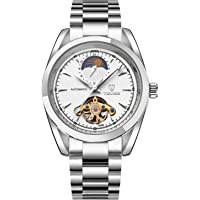 Tevise Casual Watch Analog Stainless Steel Band for Men, Silver, 795B-SW