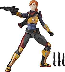 Hasbro G.I. Joe Classified Series Scarlett Action Figure Collectible 05 Premium Toy with Multiple Accessories 6-Inch Scale with Custom Package Art