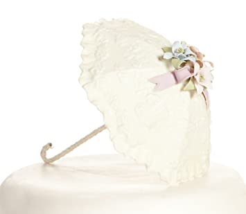 Pastel flor sombrilla paraguas novia ducha bebé ducha decoración para tarta para