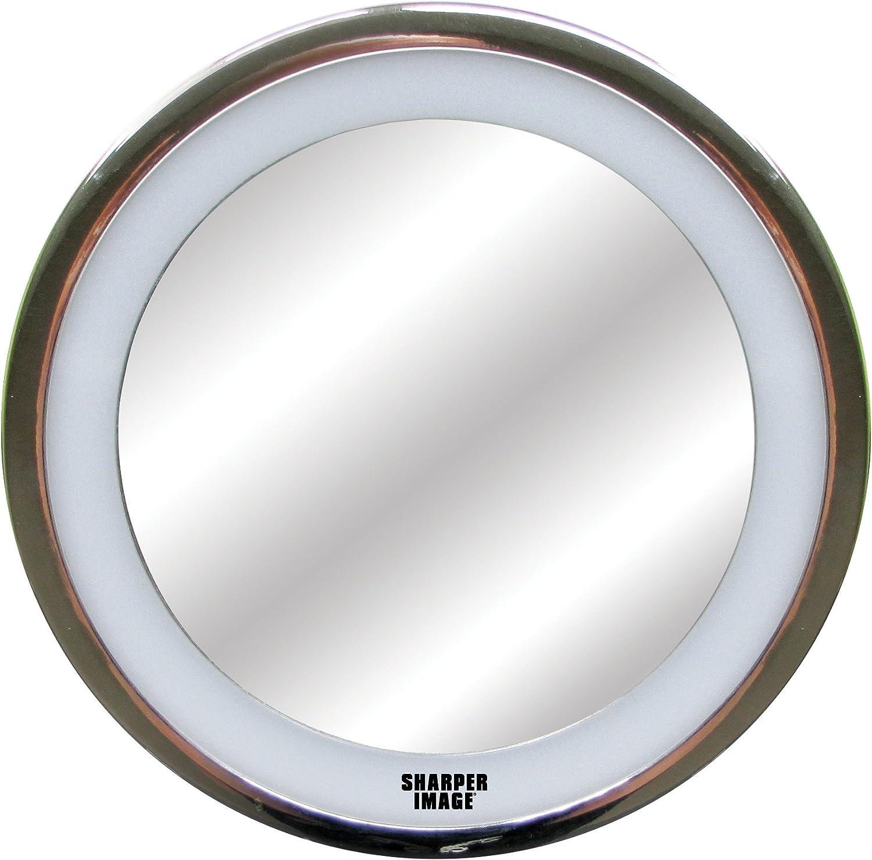 Sharper Image LED Anti-Fog Shower Mirror, Silver -