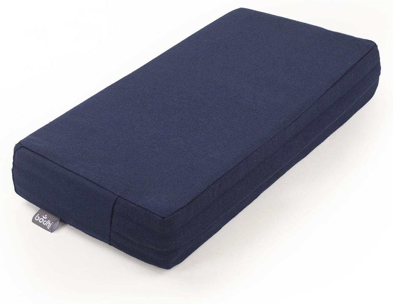 garnissage en fibre de coco avec housse en coton amovible 46 x 23 x 7,5 cm MANDIR Coussin rectangulaire