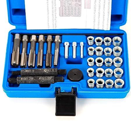 OUBAYLEW oubay Lew 33tlg Bujía electrodos Cambio Juego de reparación Desmontaje Herramientas Set: Amazon.es: Coche y moto