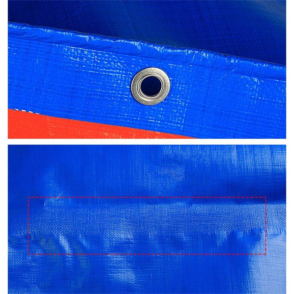 LQq-abdeckplanen Multi-Purpose Blau Dual Dual Dual Farbe wasserdichte Tarp Plane Bodenplane Abdeckung für Camping, Angeln, Gartenarbeit & Haustiere, Dicke 0,28 mm, 160 g m², Multi-Größe-Optionen für Camping Ou B07NY1ZHY1 Zeltplanen Charmantes Design 5bf363
