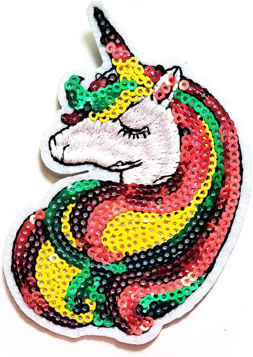 Nipitshop Patches Unicorn Horse Patch White Horse Purple Hair Cartoon Kids Patch Stickers Clothes Backpacks T-Shirt Jeans Skirt Vests Scarf Hat Bag for Kids Happy Birthday Gift Set Horse72