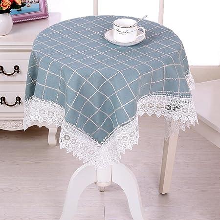 GAOJIAN Mesa de tela casera escritorio mesa mesa redonda té mantel ...