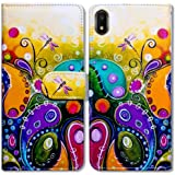 Bcov Galaxy A10e Wallet Case, Colorful Dragonfly Flip Leather Case Wallet Cover with Credit Card Slot ID Card Holder…