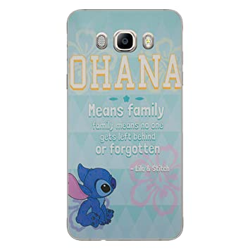 I-CHOOSE LIMITED Lilo y Stitch Funda/Carcasa del Teléfono para Samsung Galaxy J7 2016 / Gel/TPU / Citar