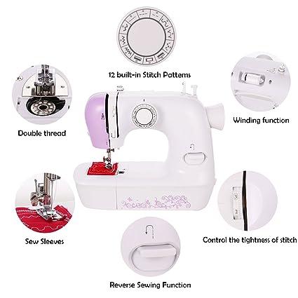 Amazon Voluker Portable Lightweight Sewing Machine 40Speed New Lightweight Portable Sewing Machine