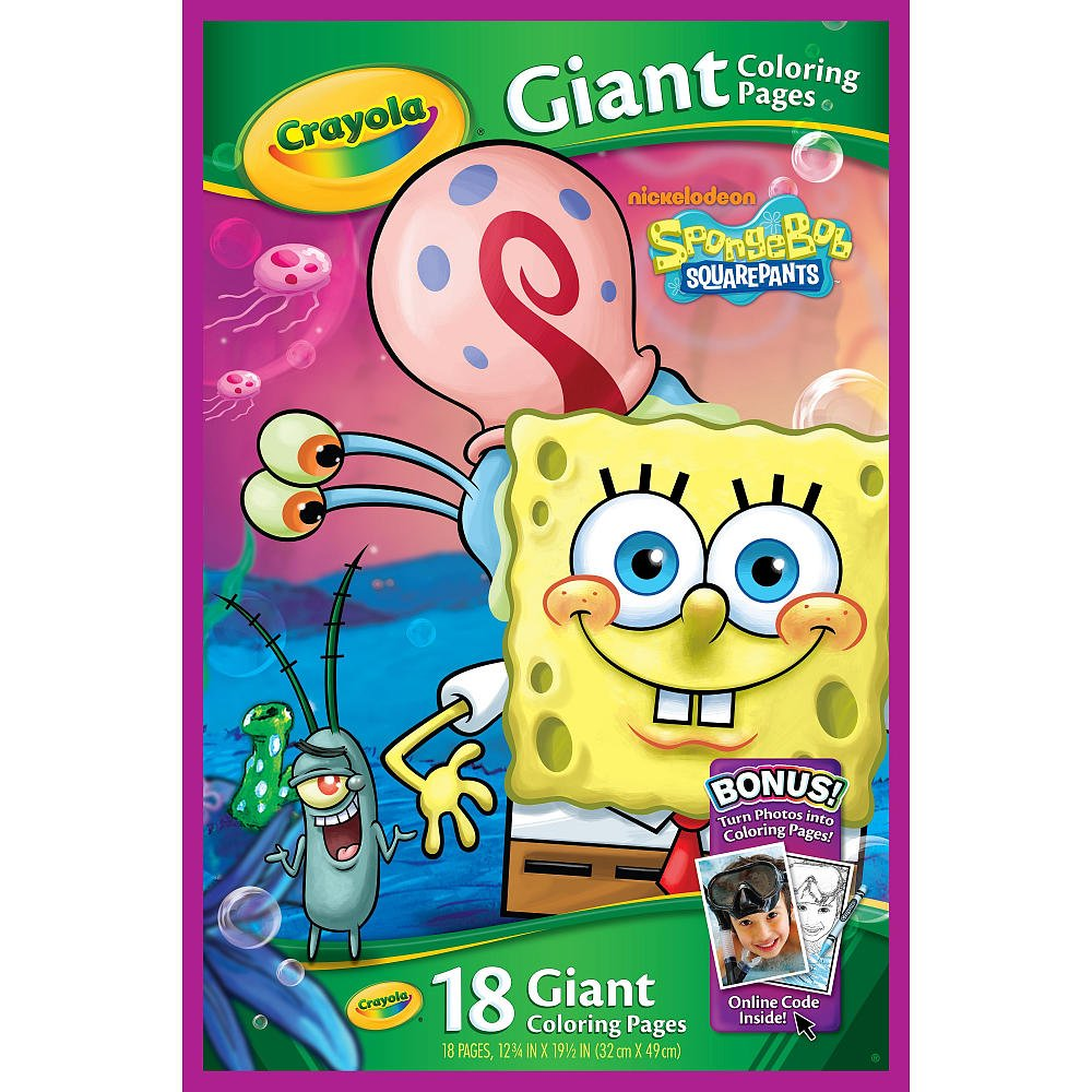 Amazoncom Crayola Giant Coloring Pages Spongebob Squarepants
