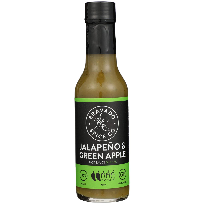 Jalapeño And Green Apple Hot Sauce By Bravado Spice Gluten Free, Vegan, Low Carb, Paleo Hot Sauce All Natural 5 oz Hot Sauce Bottle Award Winning Gourmet Hot Sauce…