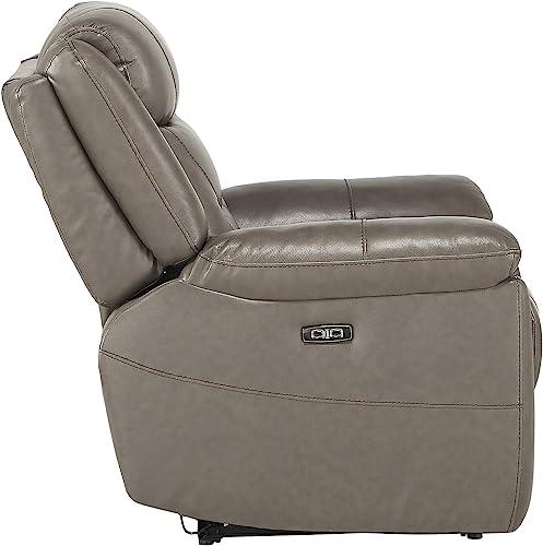 Amazon Brand Rivet Bigelow Modern Leather Sofa with Square Legs, 89.4 W, Cognac