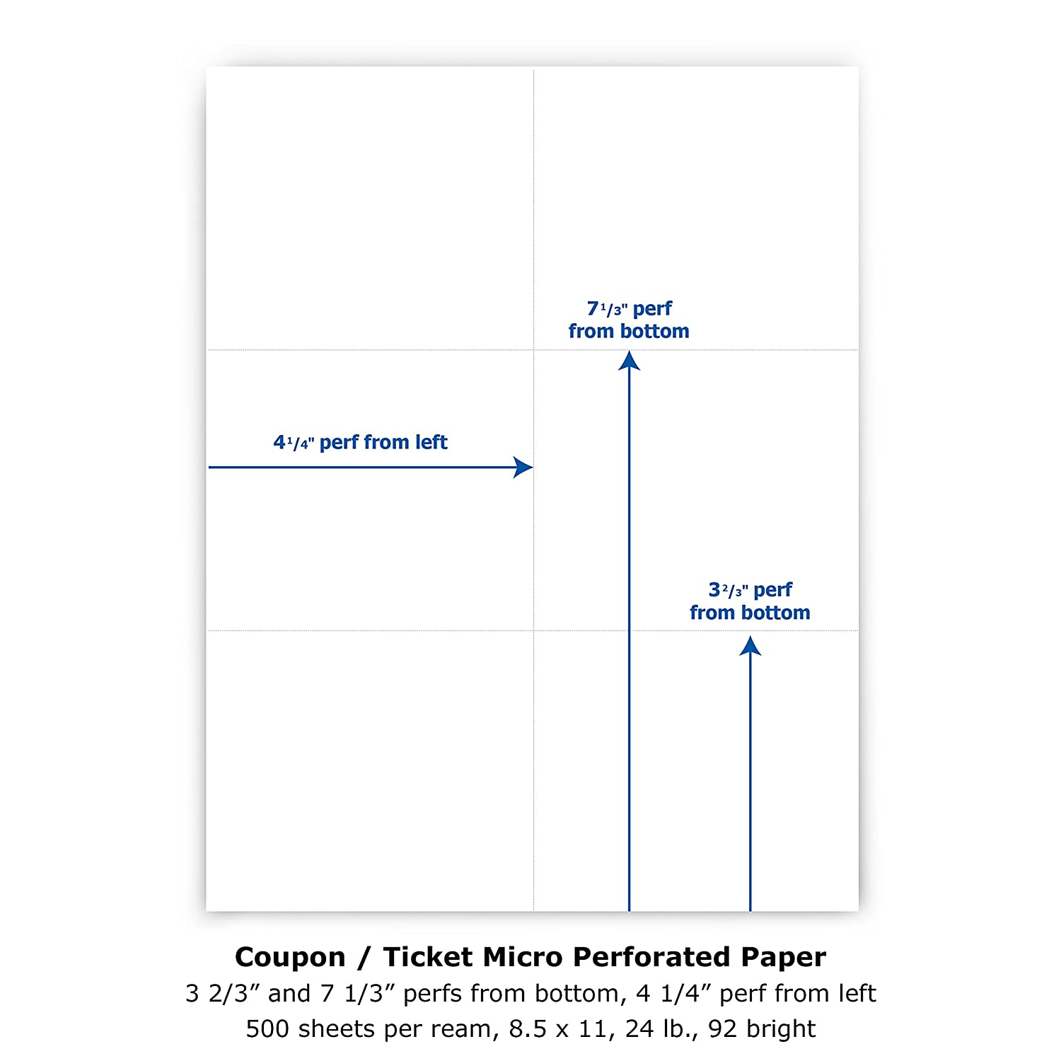 amazon com printworks professional perforated paper for tickets
