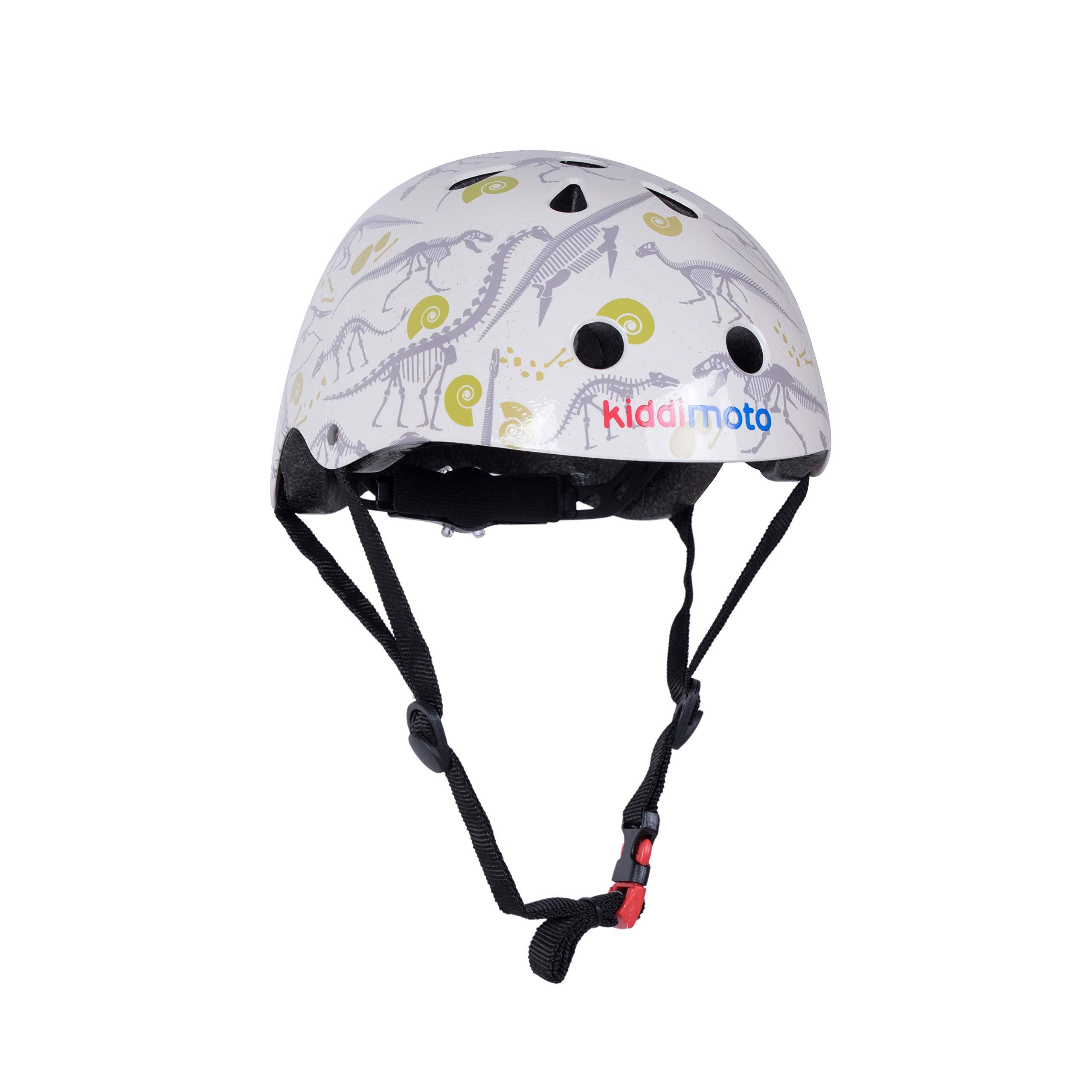 Kiddimoto Kids Patterned Helmet (Fossil, Small)