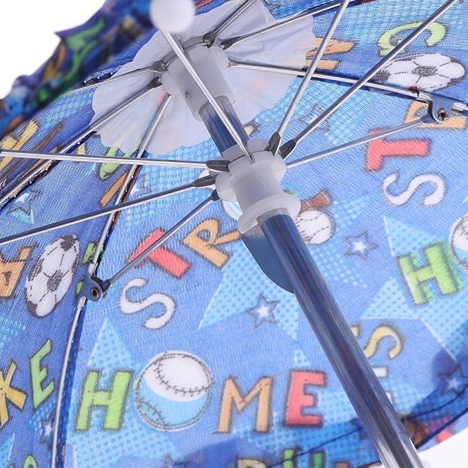 Azul Oscuro A Baoblaze Paraguas de Tela de Varios Estilos para 18 Pulgadas Americana Chica Mu/ñeca