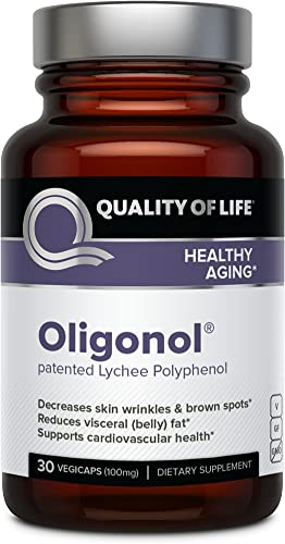 Quality of Life Oligonol Premium Anti Aging Supplement-Supports Cardiovascular Health Youthful Skin