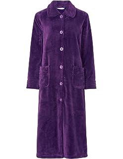b8e8c732ac Slenderella HC8317 Women s Navy Blue Robe Long Sleeve Dressing Gown ...