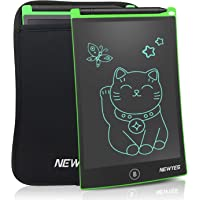 NEWYES LCD Writing Tablet,8.5 Inch with Black Sleeve (Green)