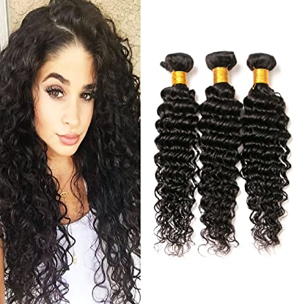 Short Deep Curly Hair Bundles 10 12 14 Inch Real Brazilian Hair Loose Deep Wave 3