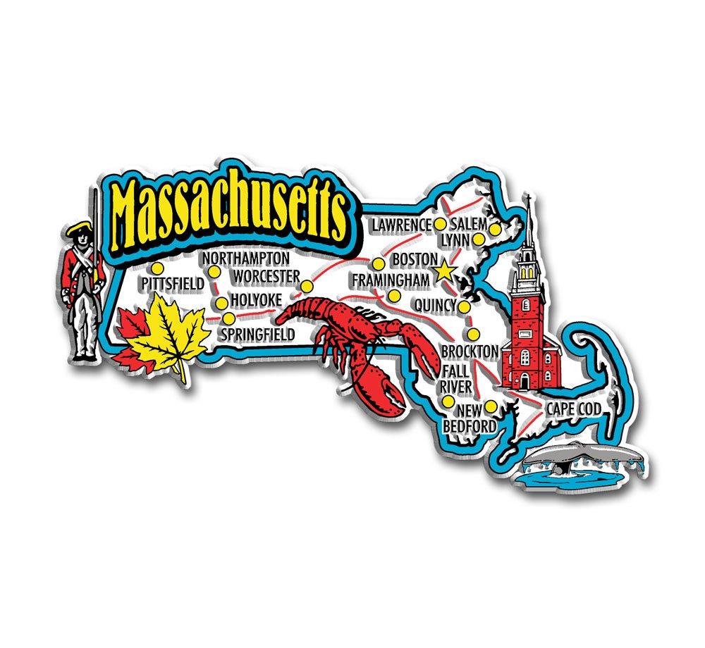 Massachusetts State Jumbo Map Magnet