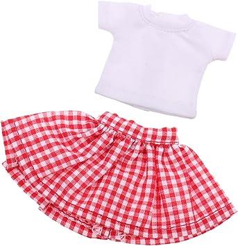 Amazon.es: Set de Ropa Linda Camisa y Falda de Moda para 1/6 ...