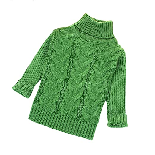 faf81f0e5dae17 Amazon.com  ZHUOTOP Kids Turtleneck Sweater Warm Boys Girls Knit ...