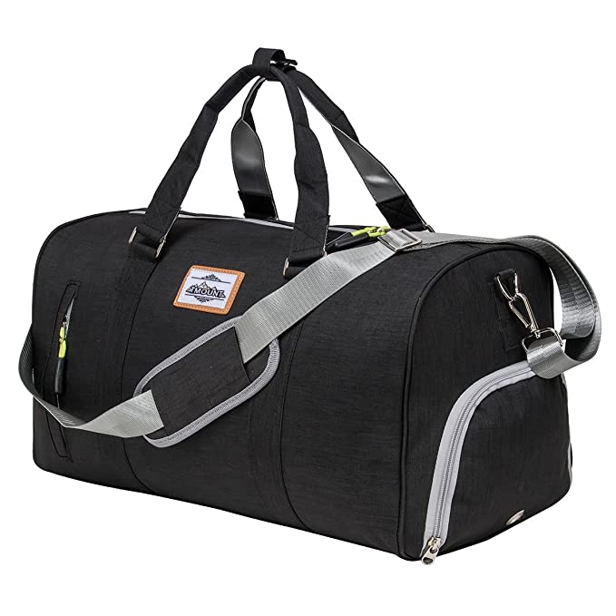 bd309b1a63b Amazon.com  Sport Gym Bag with Shoe Compartment Duffle Travel Bag for Men    Women  Sports   Outdoors