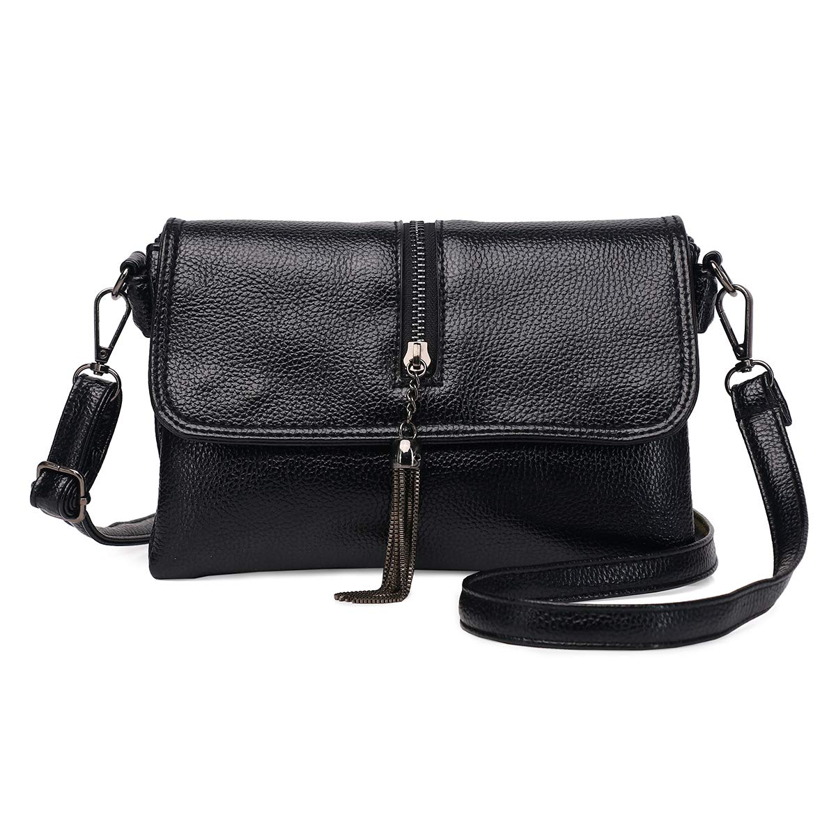 Zg Small Crossbody Purse for Women, 2 Layer Wristlet Cell Phone Clutch Wallet Purse with Shoulder Strap