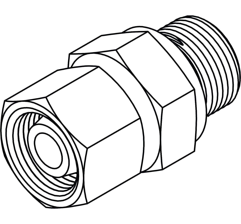 14 x 1.5 Tompkins Industries MC6122-L08-04 Metric Compression Stud//Standpipe BSPP,L08 Steel x 1//4-19