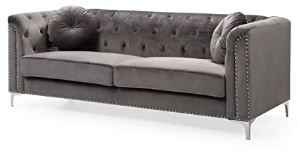 Amazon.com: Glory Furniture Pompano G782A-S Sofa, Dark Gray. Living ...